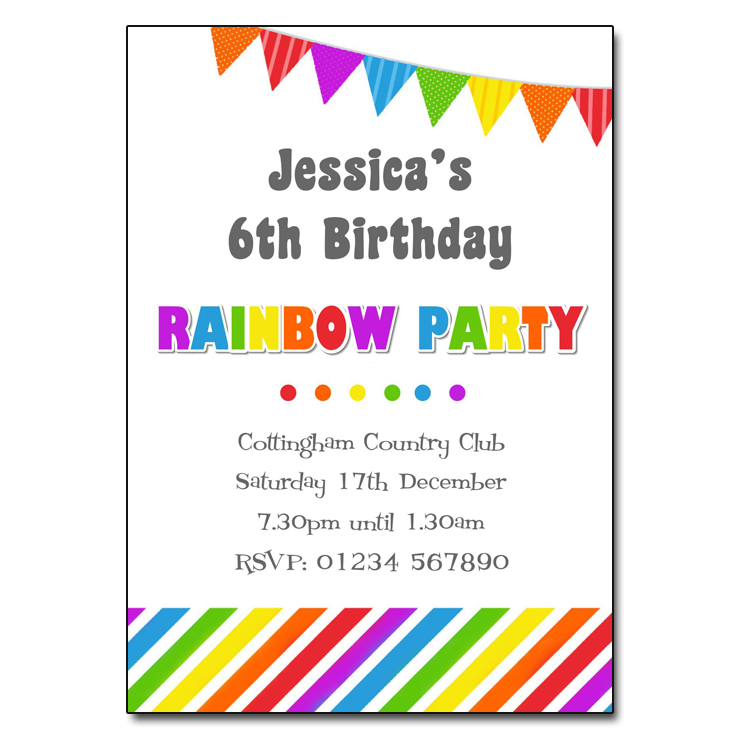 free birthday party invitation templates uk ; Rainbow-Party-Invitation