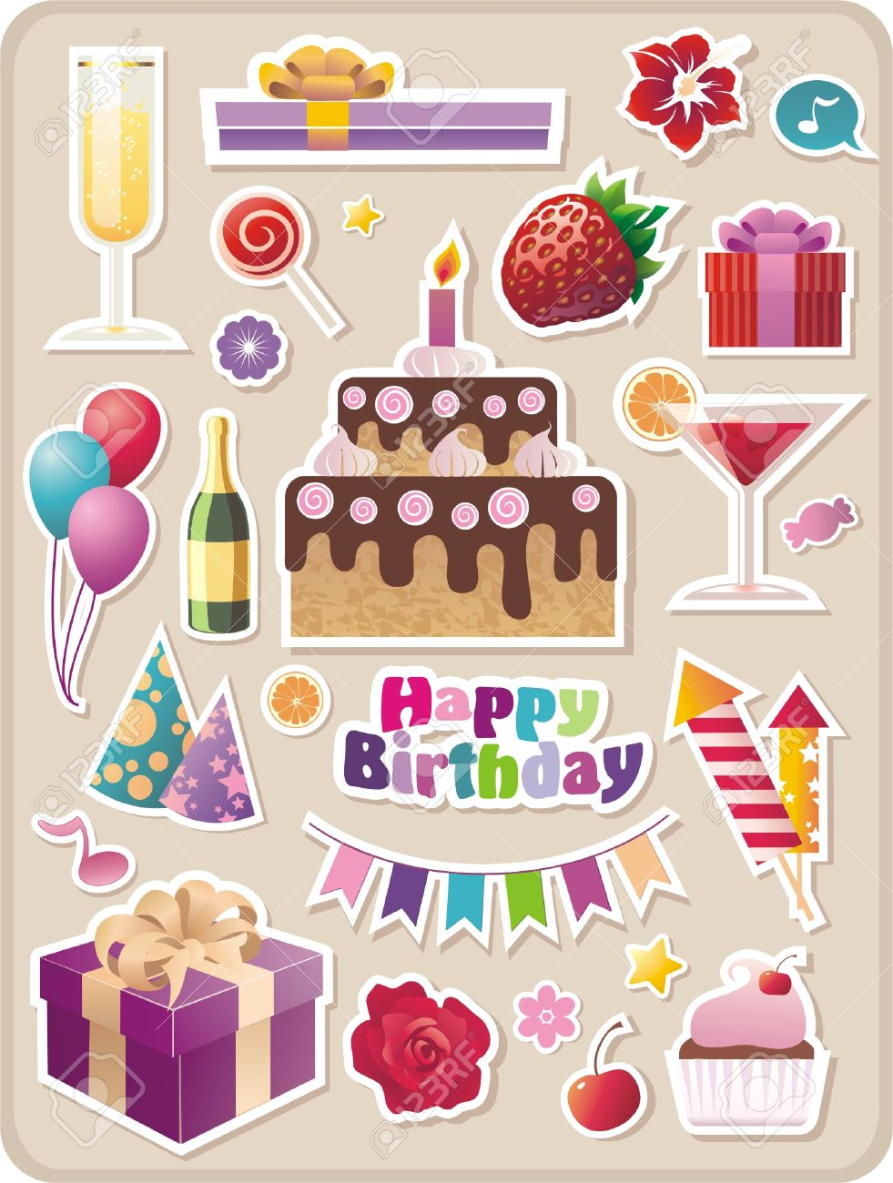free birthday stickers ; 5992254-collection-of-cartoon-birthday-stickers