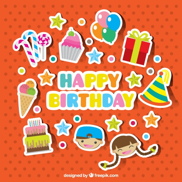 free birthday stickers ; collection-of-pretty-birthday-stickers_23-2147575812