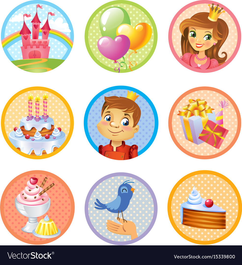 free birthday stickers ; cute-birthday-stickers-vector-15339800