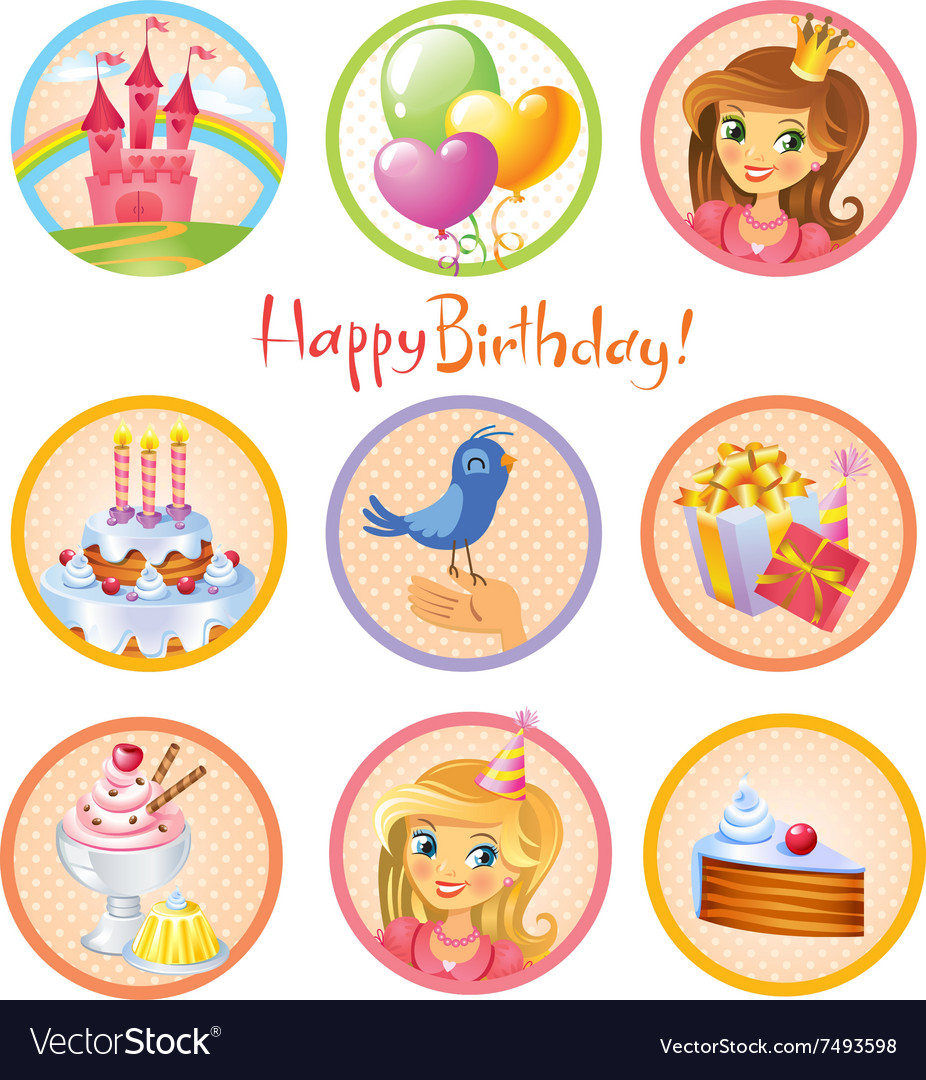 free birthday stickers ; cute-birthday-stickers-vector-7493598