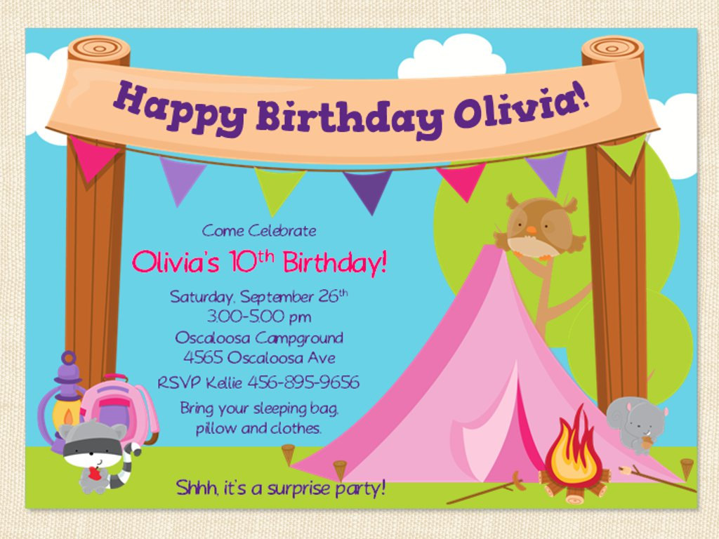 free camping birthday party invitation templates ; 3c86eb05b525e20d50c9586cfd81d0ae
