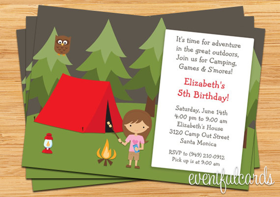 free camping birthday party invitation templates ; camping-birthday-party-invitations-and-outstanding-invitations-fitting-aimed-at-giving-pleasure-to-your-Party-Invitation-Templates-9