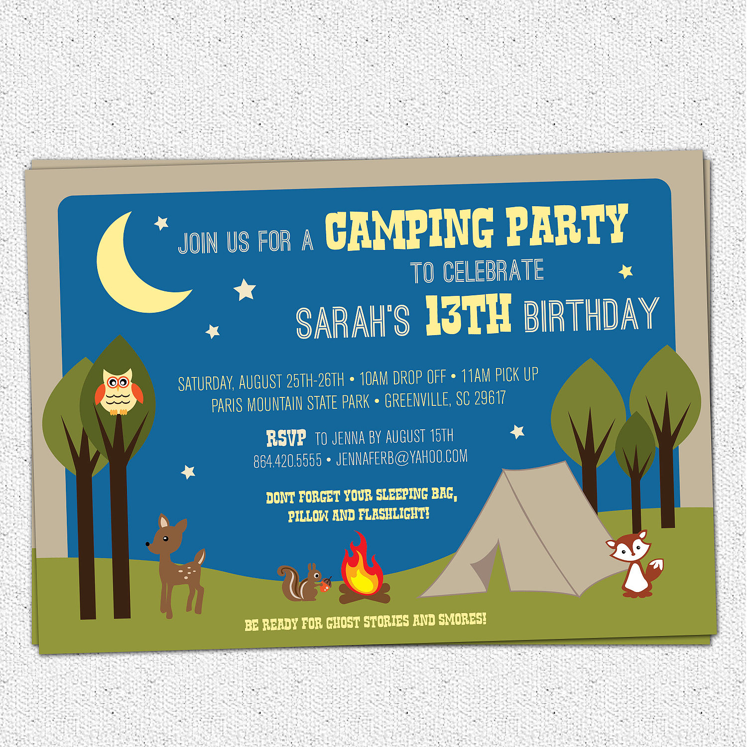 free camping birthday party invitation templates ; il_fullxfull