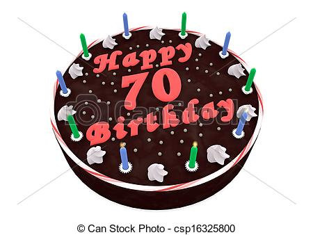 free clipart 70th birthday ; chocolate-cake-for-70th-birthday-drawing_csp16325800