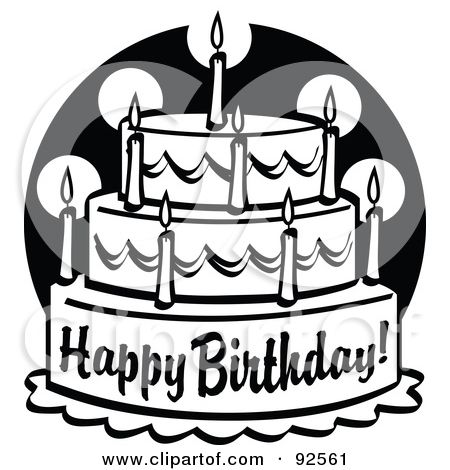 free clipart birthday cake black and white ; 2228a00f3547ab0a7b4c3f057e00d187