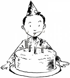 free clipart birthday cake black and white ; Black_and_White_Boy_with_a_Birthday_Cake_Royalty_Free_Clipart_Picture_091107-130900-641009