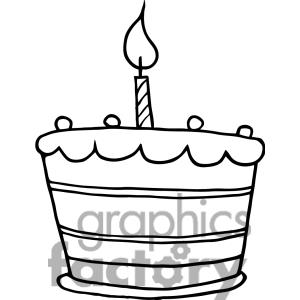 free clipart birthday cake black and white ; cake-20clip-20art-1343244-Birthday-Cake-With-One-Candle-Lit