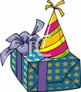 free clipart birthday presents ; A_Birthday_Present_With_A_Party_Hat_On_Top_Royalty_Free_Clipart_Picture_090627-143043-881042