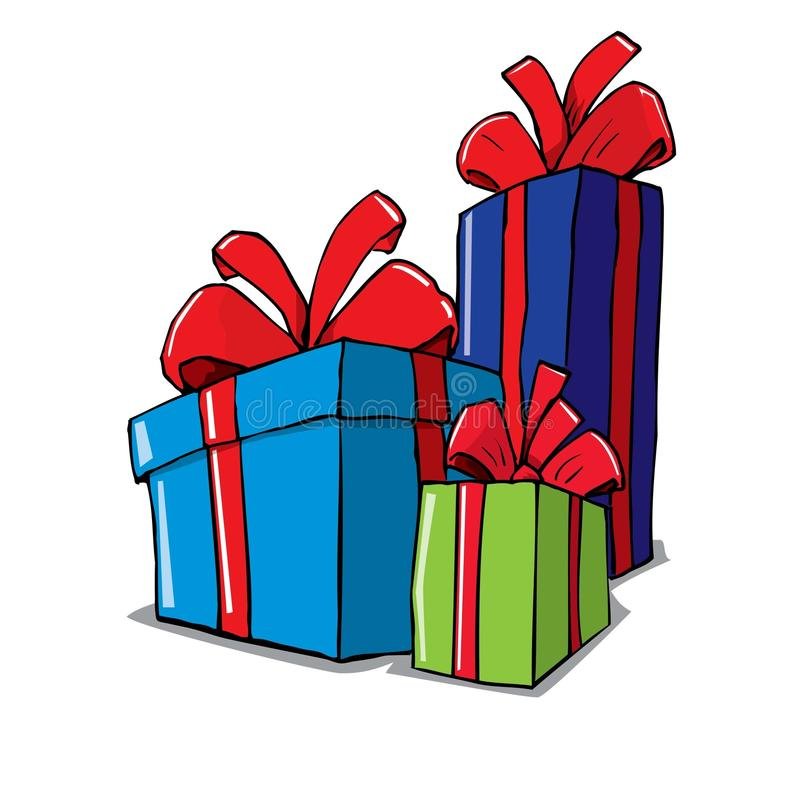 free clipart birthday presents ; cartoon-group-christmas-gifts-19464971