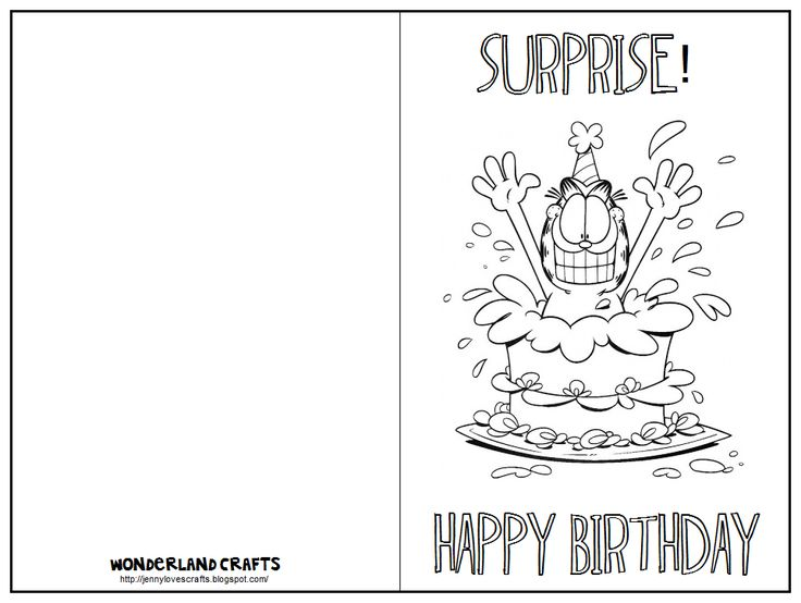 Free Coloring Birthday Cards To Print Happy Color And