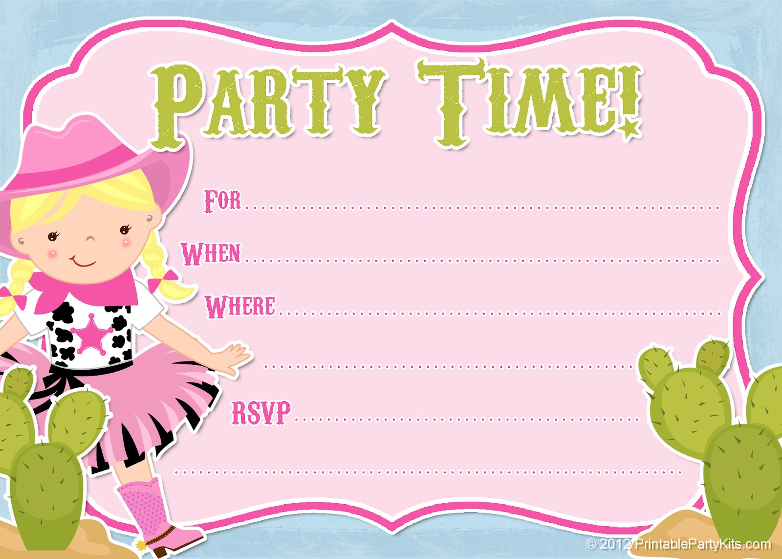 free cowgirl birthday invitation templates ; cowgirl-party-invitations-with-some-beautification-for-your-Party-Invitation-Templates-to-serve-glamorous-environment-5