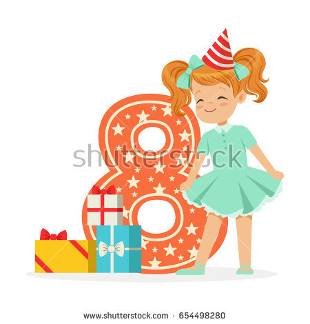 free happy birthday clipart for her ; stock-vector-smiling-happy-eight-year-old-girl-in-a-red-party-hat-celebrating-her-birthday-colorful-cartoon-654498280