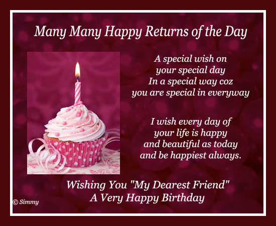 free happy birthday greeting cards for best friend ; 319204