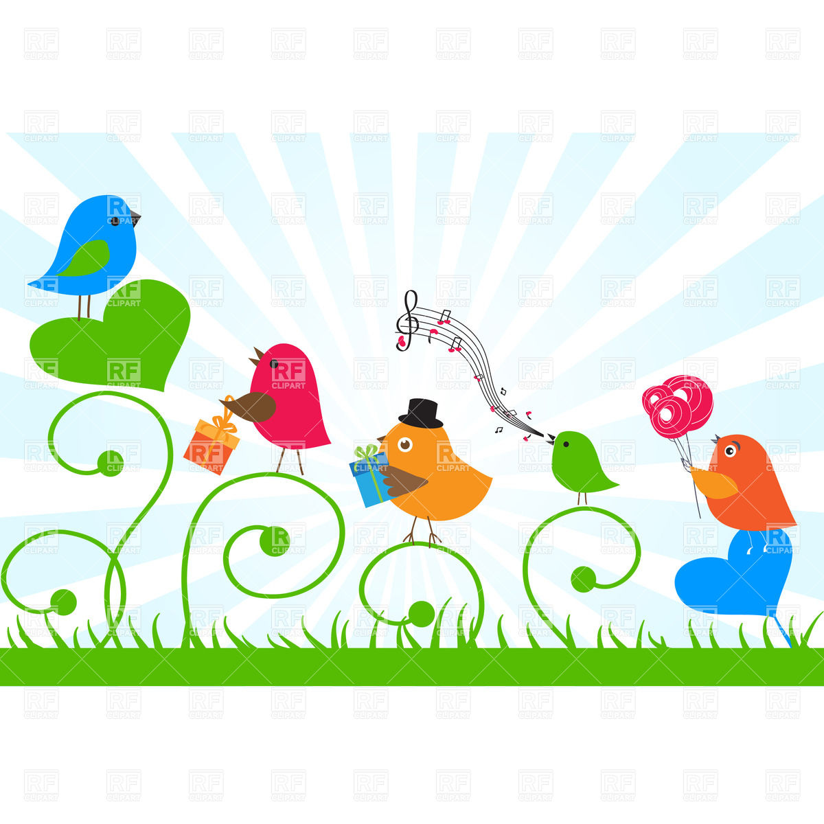 free happy birthday son clipart ; birthday-card-birds-send-greetings-to-a-friend-Download-Royalty-free-Vector-File-EPS-44367