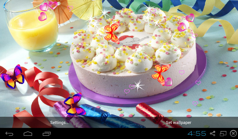 free happy birthday wallpaper for android ; 866006