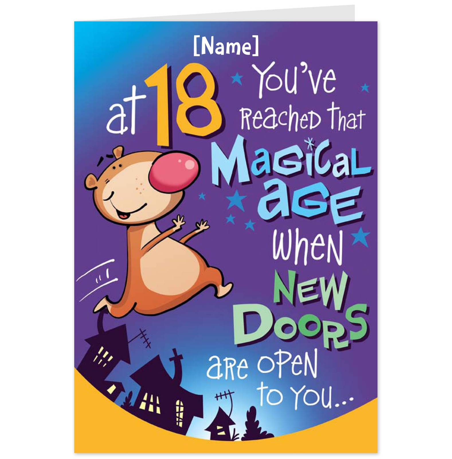 Free Printable 18th Birthday Cards Cute
