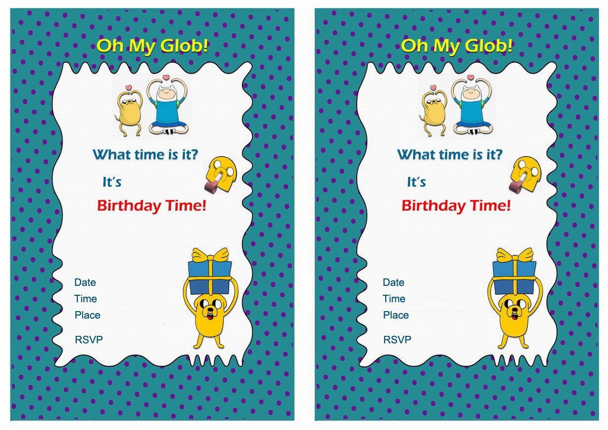 free printable adventure time birthday invitations ; 96a0ee4082547cd9a7bb8668b6bed965