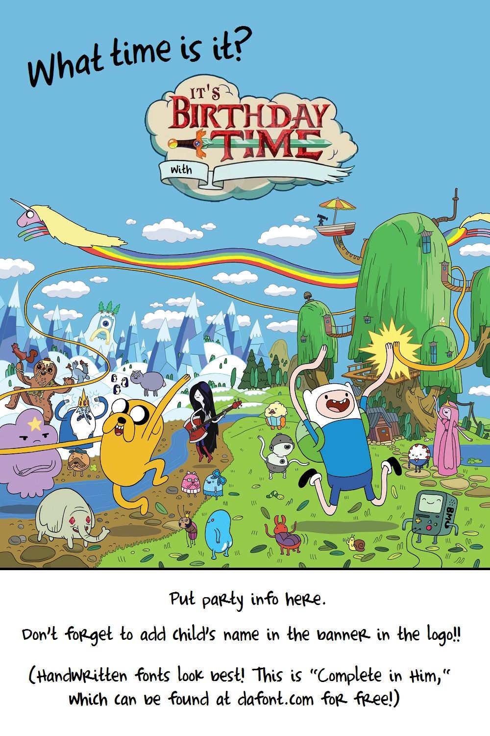 free printable adventure time birthday invitations ; fb5c136c5caf6262a376f3a192ea8709