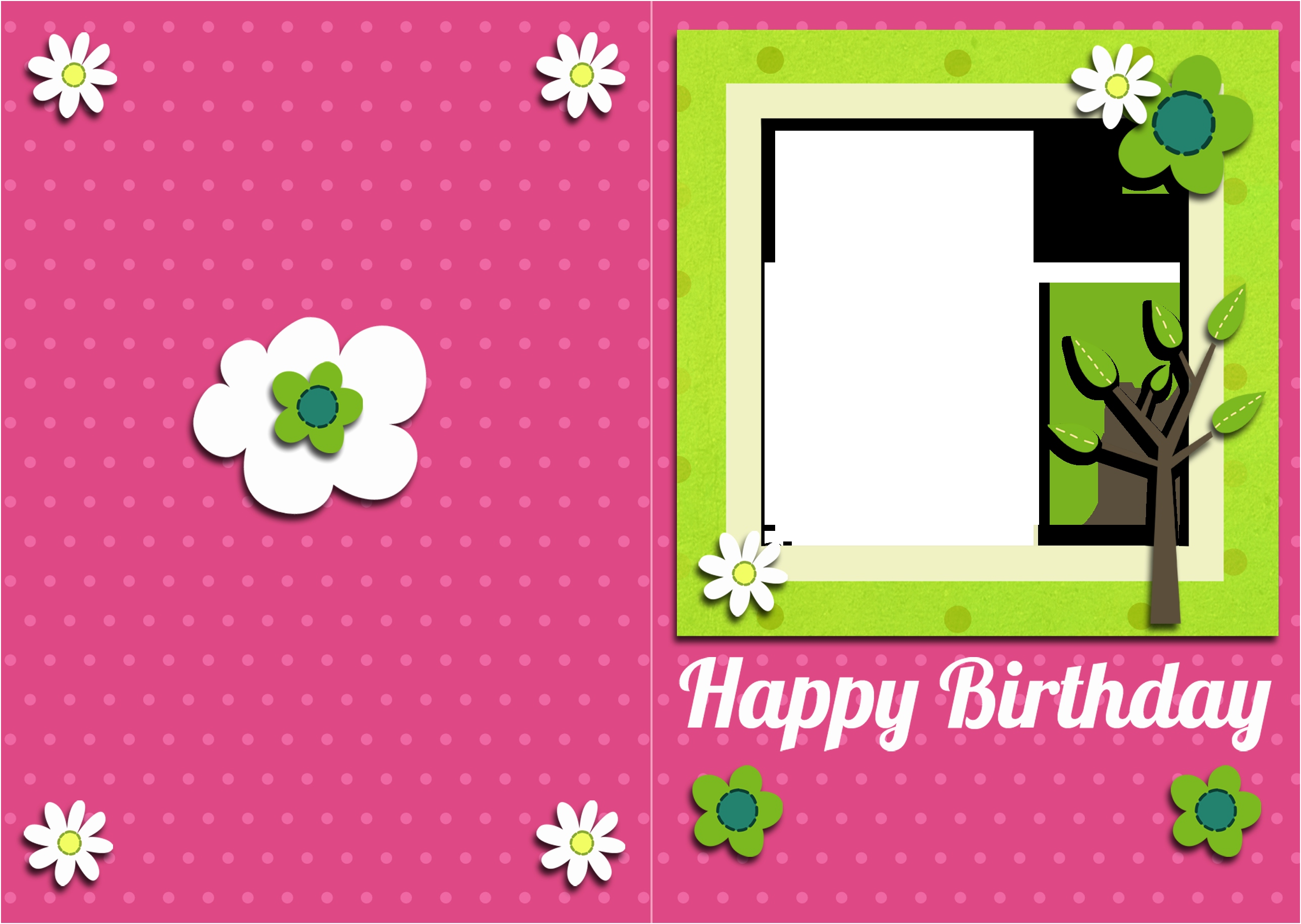 Free Printable Birthday Card Inserts With Photo Insert