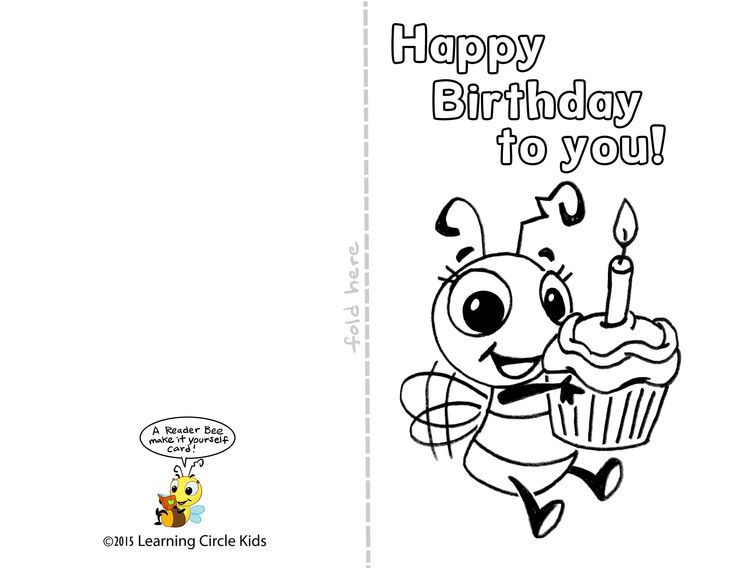free printable birthday cards for boys ; birthday-cards-for-kids-free-printable-birthday-cards-for-kids-pictures-bee-with-cupcakes-and-candle-on-his-hand-and-with-text-happy-birthday-to-you