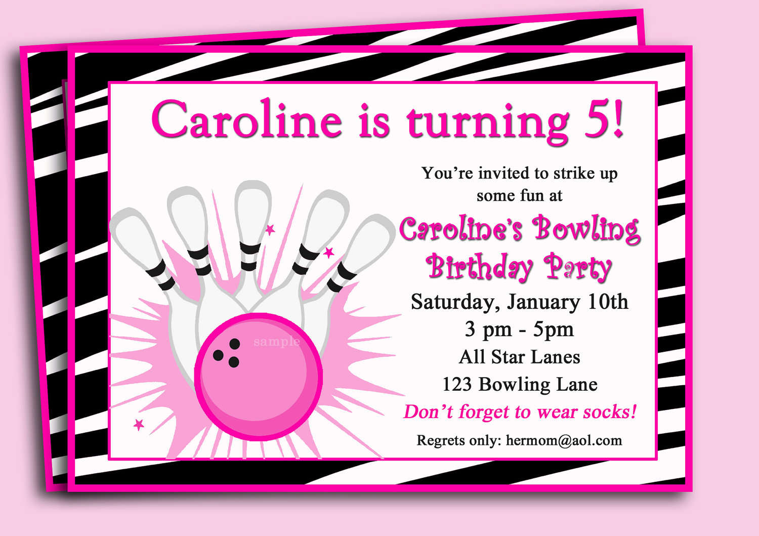 free printable bowling birthday party invitations ; bowling-birthday-party-for-kids