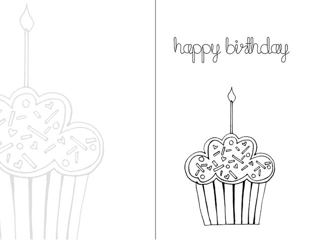 free printable coloring cards for birthdays ; birthday-cards-drawing-9