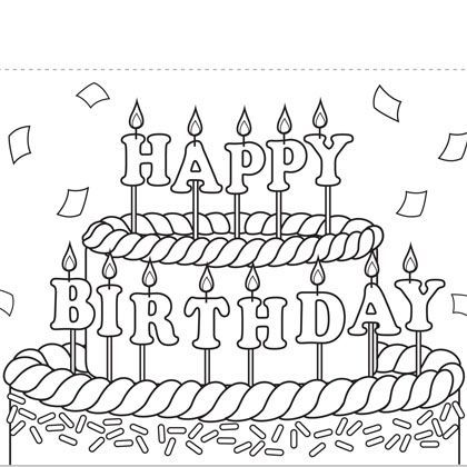 free printable coloring cards for birthdays ; coloring-pages-of-birthday-cards-free-printable-to-color-print-and-on-pinterest