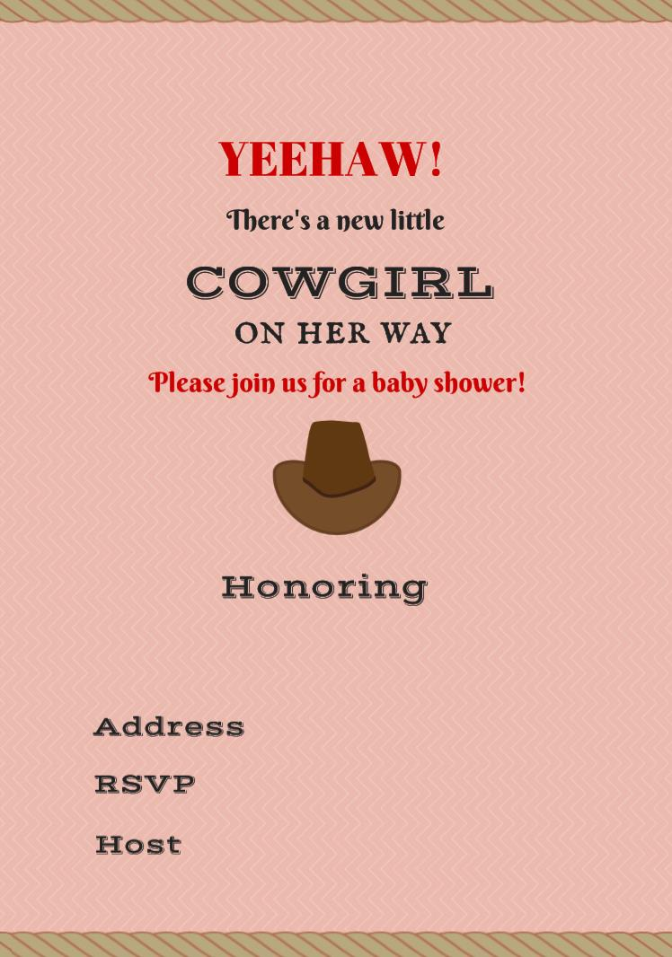 free printable cowgirl birthday party invitations ; Free-baby-shower-Invitation-cowgirl
