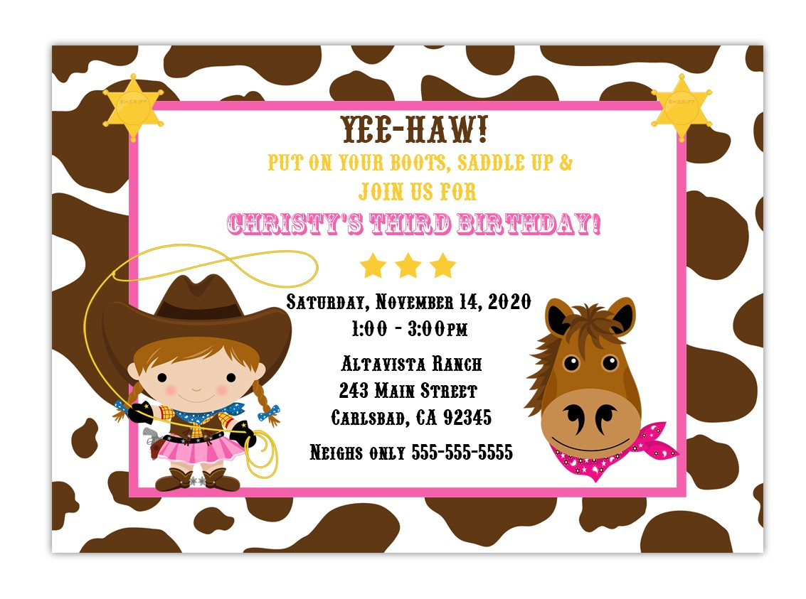 free printable cowgirl birthday party invitations ; cowgirl-party-invitations-for-invitations-your-Party-Invitation-Templates-by-implementing-fetching-motif-concept-4