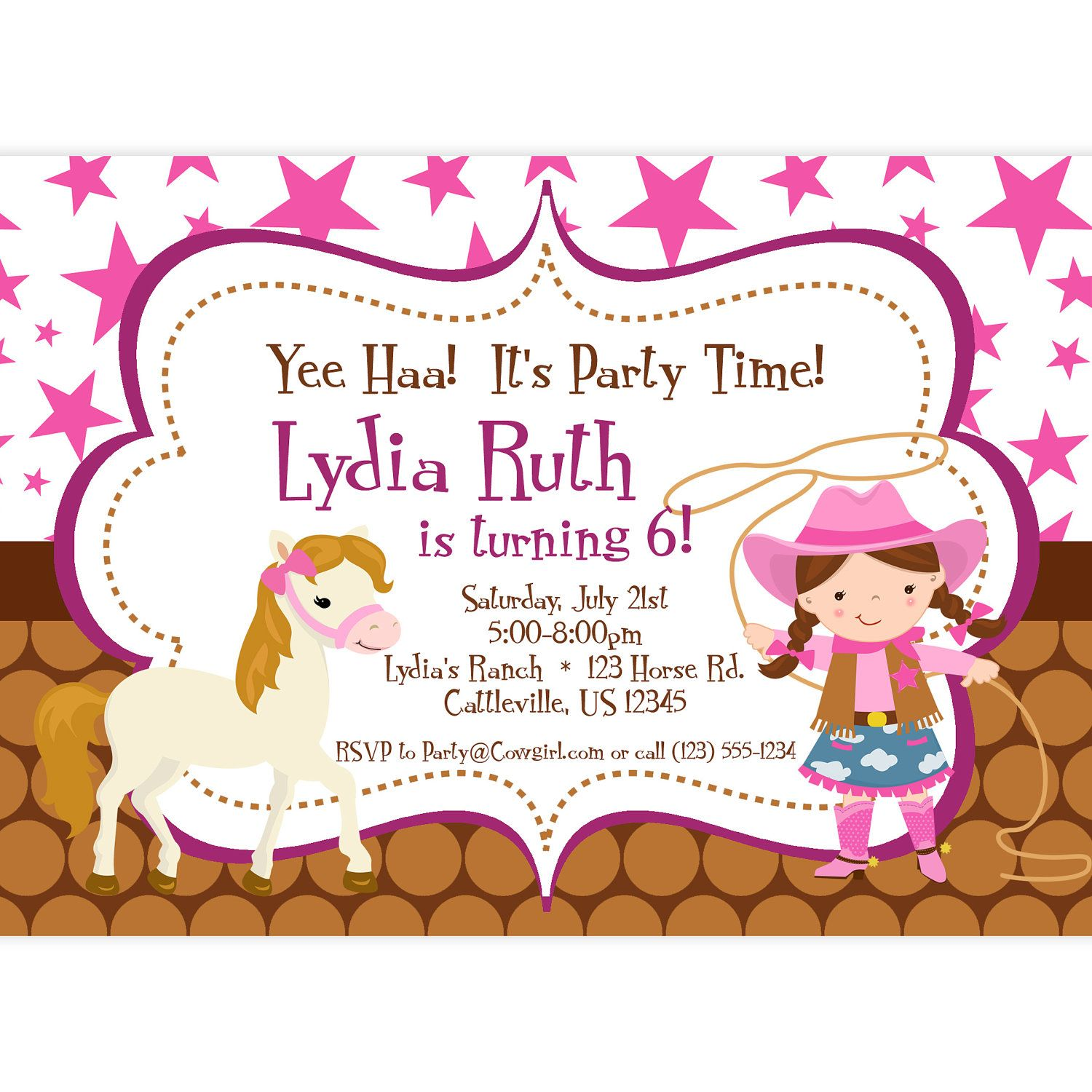free printable cowgirl birthday party invitations ; d84f05281a241571d6d33876cd0b8b4e