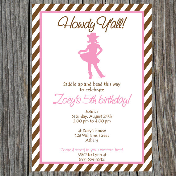 free printable cowgirl birthday party invitations ; uncategorized-saddle-up-and-head-this-way-to-celebrate-cowgirl-birthday-party-invitations