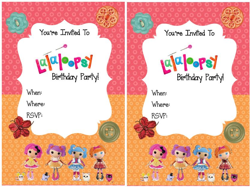 free printable lalaloopsy birthday invitations ; Picture+2