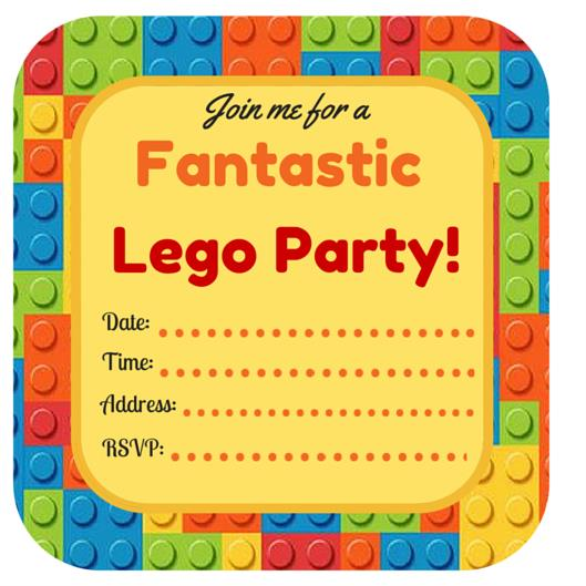free printable lego birthday invitations ; invit