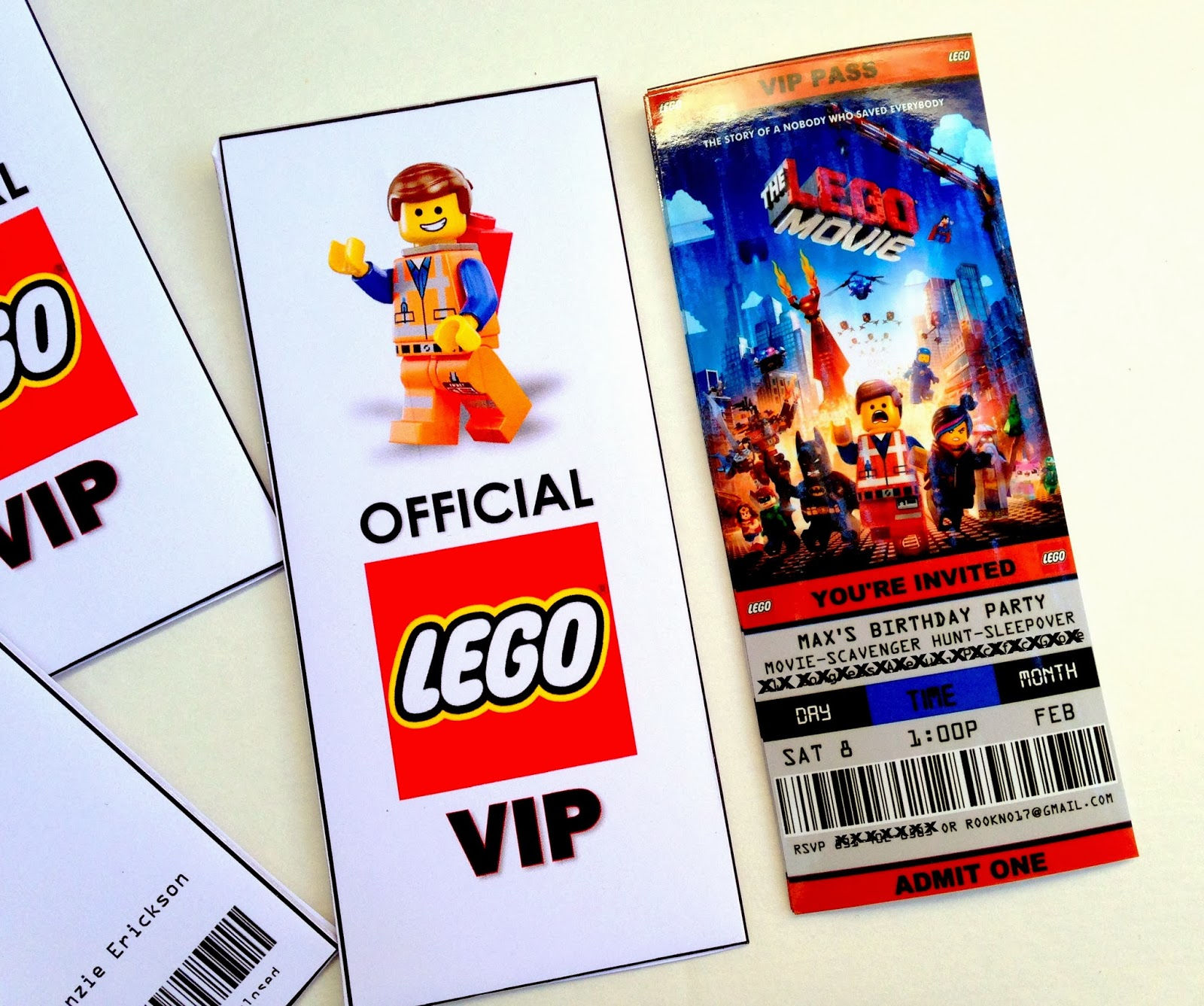 free printable lego birthday invitations ; lego+movie+birthday+party+invitations+ticket+style+printable+free