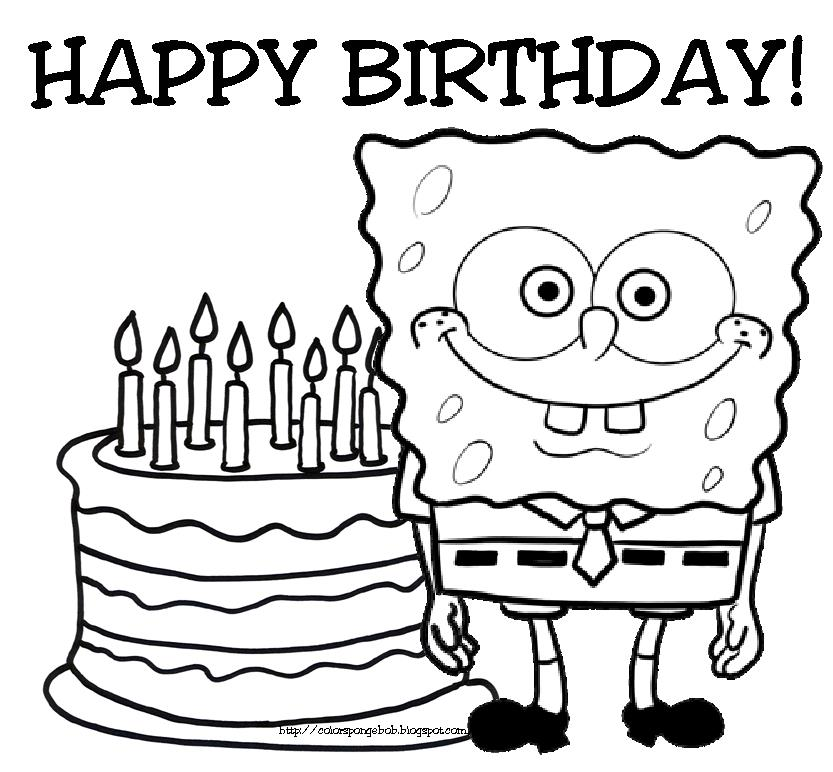 free printable spongebob birthday cards ; birthday-coloring-pages-to-print-amusing-birthday-coloring-page-25-for-your-download-coloring-pages-ideas