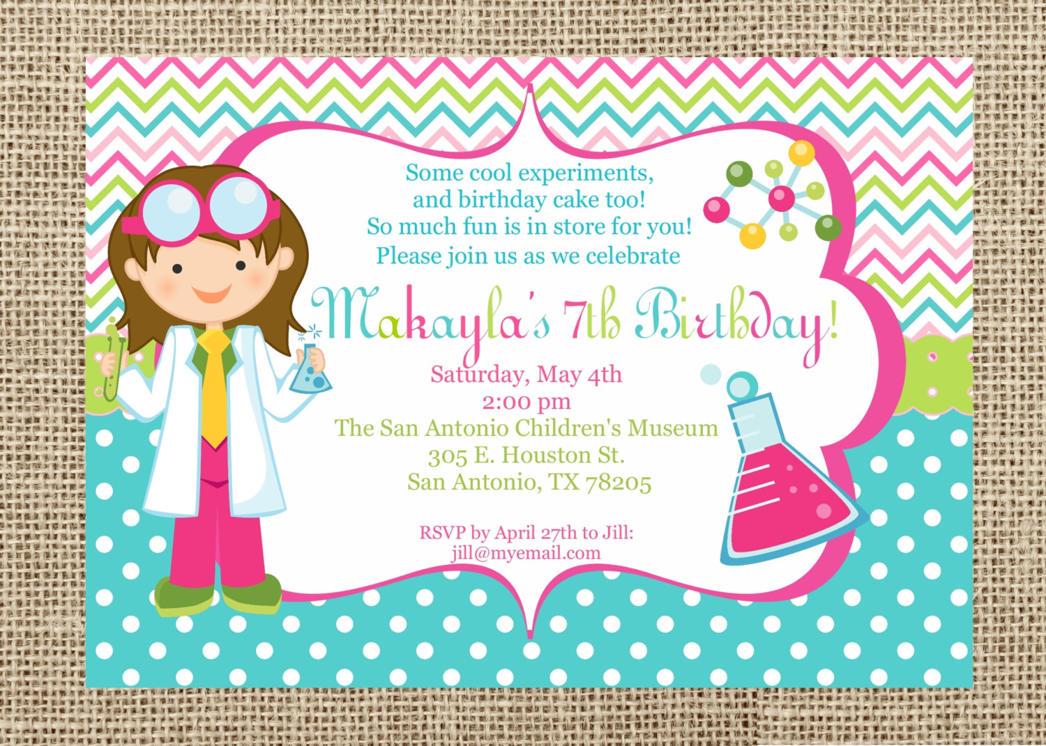 free science birthday party invitation templates ; science-party-invitations-with-some-fantastic-invitations-using-attractive-layout-of-Party-Invitation-Templates-7