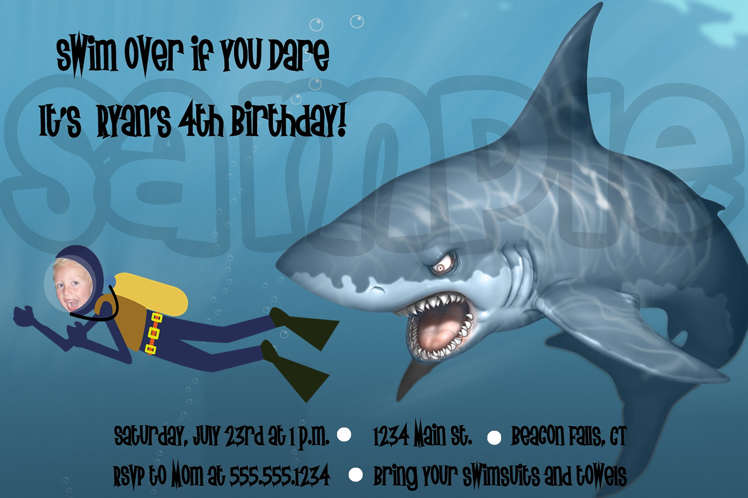 free shark birthday invitation template ; shark-party-invitations-in-support-of-invitations-your-Party-Invitation-Templates-with-engaging-ornaments-20