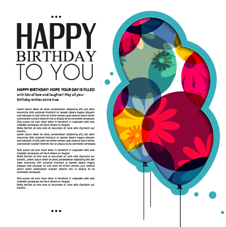 free vector birthday card designs ; Template-birthday-greeting-card-vector-material-01