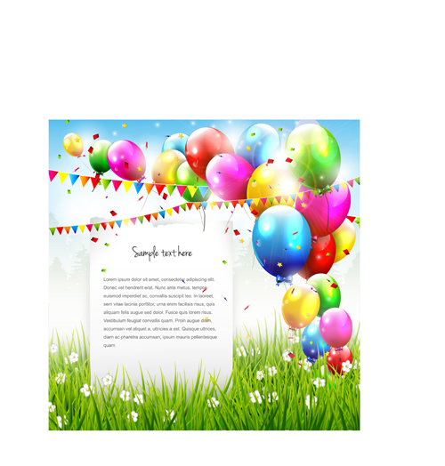 free vector birthday card designs ; Vector-set-of-birthday-cards-design-elements-01