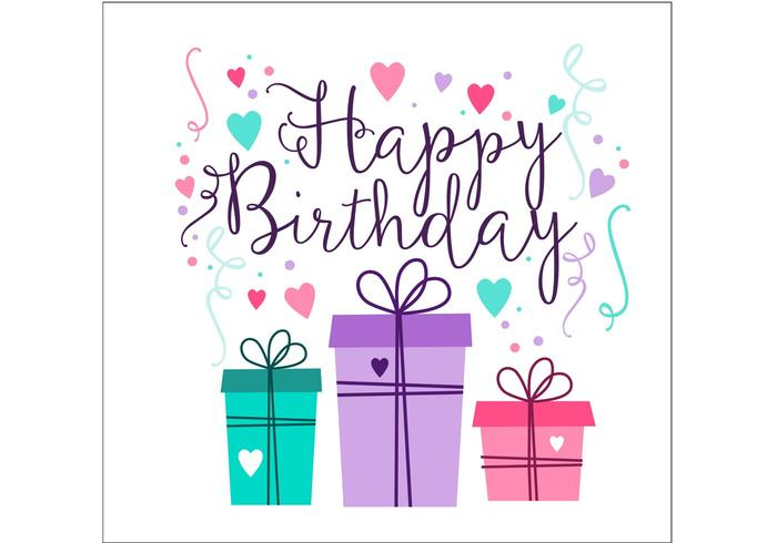 free vector birthday card designs ; birthday-card-design-vector