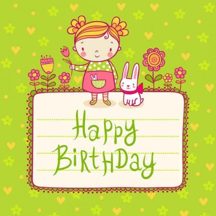 free vector birthday card designs ; free_cute_playful_card_templates_vector_material_442024155
