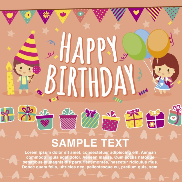 free vector birthday card designs ; happy-birthday-card-template_1042-29