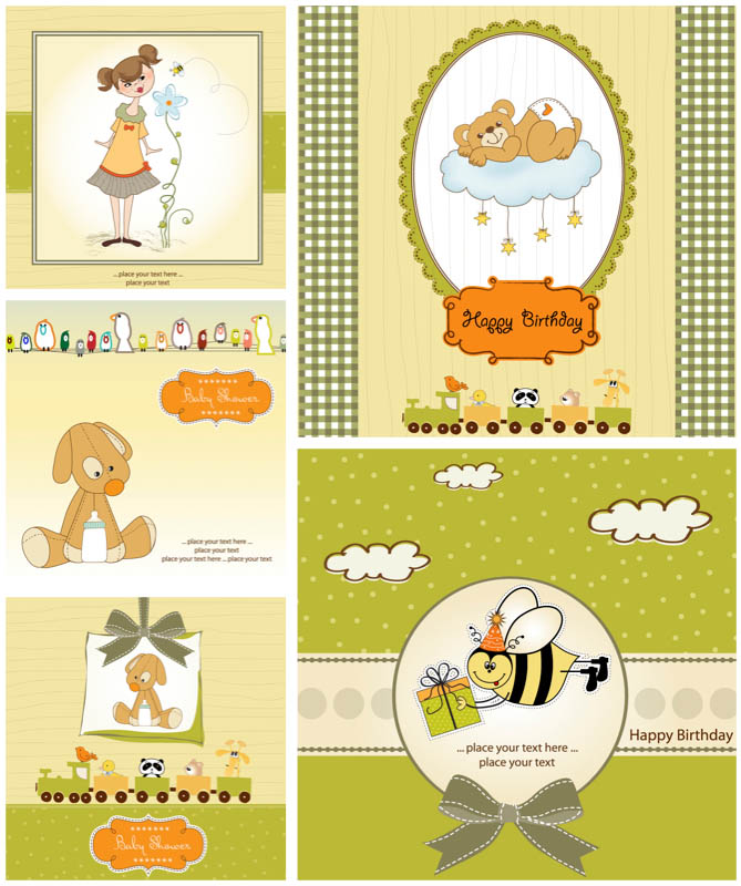 free vector birthday card designs ; happy-birthday-cards-vector