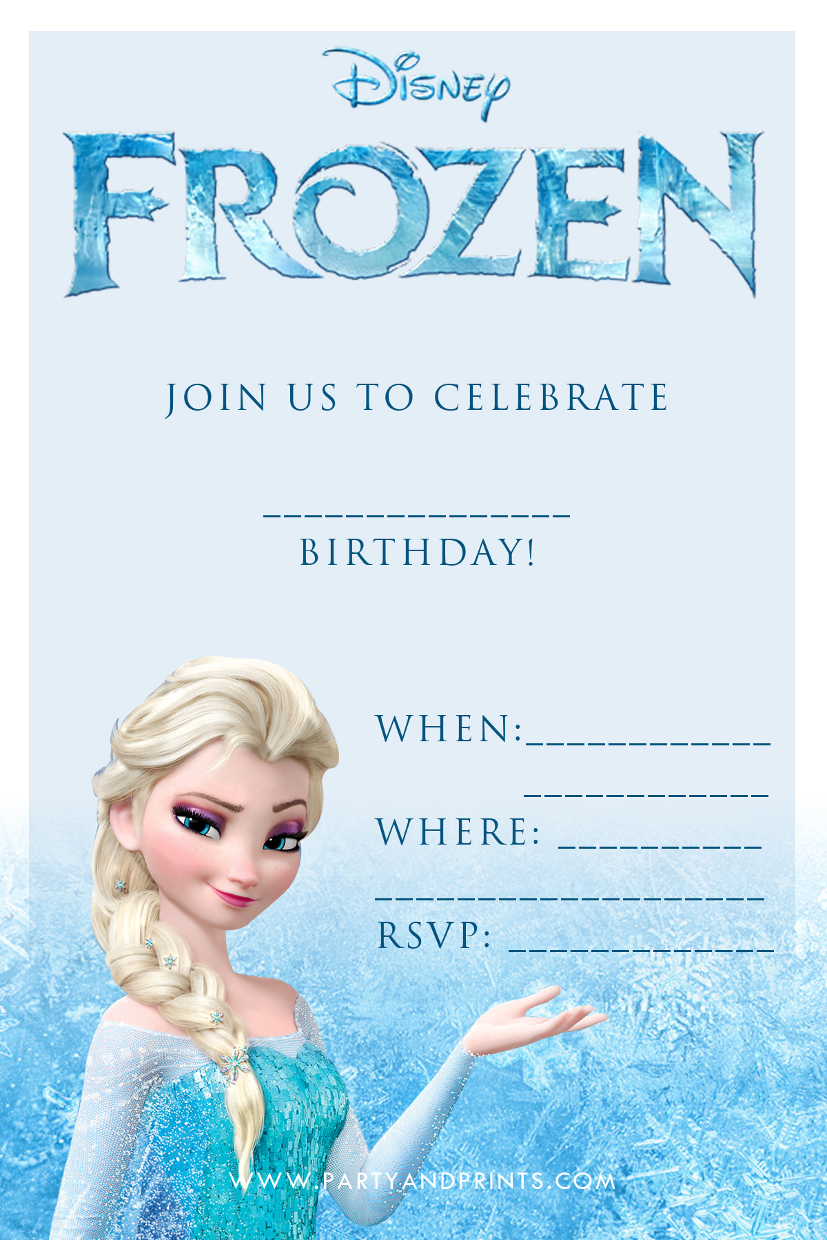 frozen birthday card printable ; printable-frozen-birthday-invitations-with-adorable-concept-of-pattern-applied-in-your-Birthday-Invitation-Cards-invitation-card-design-2