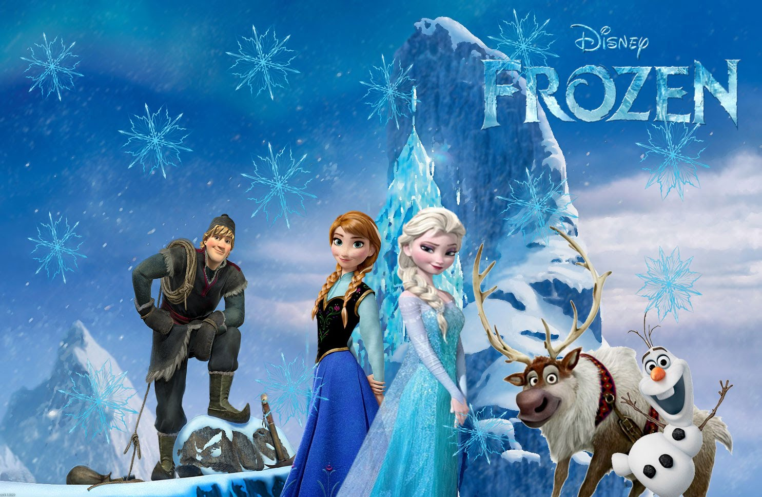 frozen wallpaper for birthday ; Frozen-Wallpaper-with-main-Characters