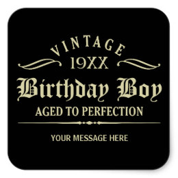 funny birthday stickers ; personalize_funny_birthday_black_square_sticker-r651f54437e7a478d8826439b82b681d5_v9i40_8byvr_260