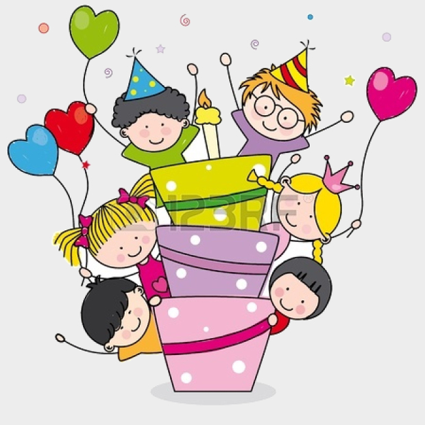 funny happy birthday clipart for him ; Kids-Birthday-Party-Clipart
