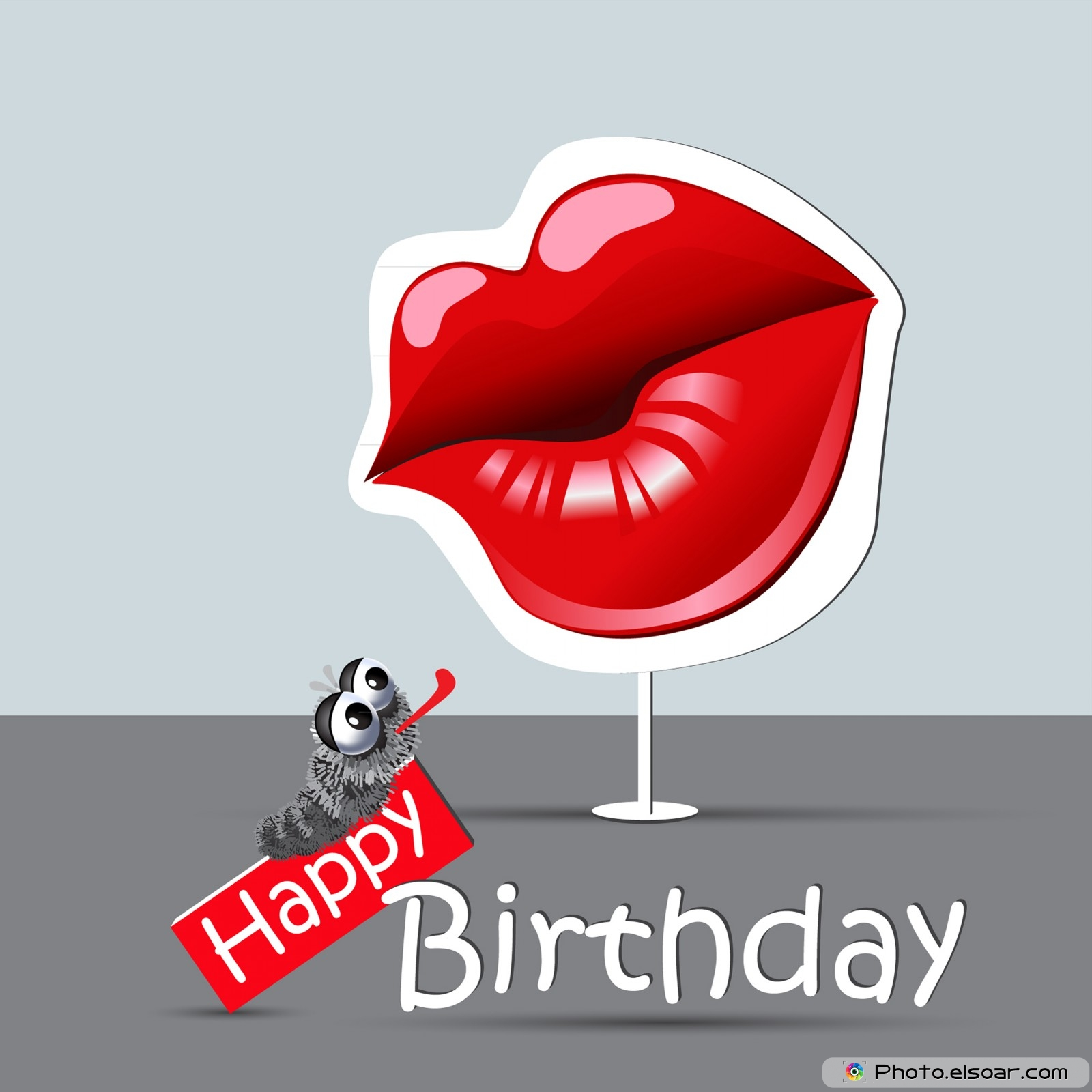 funny happy birthday wallpaper ; happy-birthday-funny-card-eyes-and-smile-kiss-wallpaper