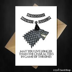 game of thrones themed birthday card ; 0b7970227f2f6a42b6d5be4995c8e019